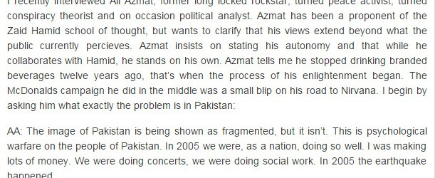 Royal Confusion: An interview with Ali Azmat	October 23rd, 2010