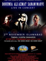 Live with bohemia , at top city islamabad